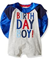 Mud Pie Mens Birthday Boy Cape One-Piece (Infant)