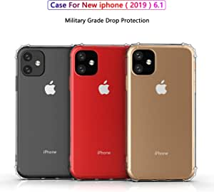 iPhone 11 Case, JR New Cover Case Heavy Duty [Shock Absorption] with Transparent Hard Plastic Back Plate and Soft TPU Gel Bumper air Cushion - [Crystal Clear]