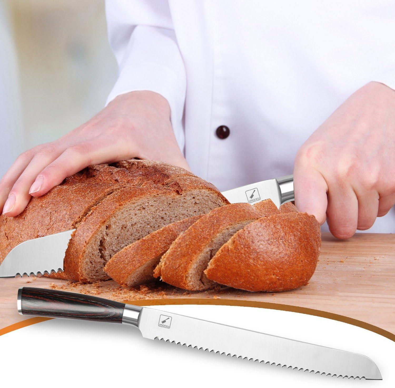 Amazon.com: Imarku 10-pulgadas Pro dentado Pan Cake Slicer ...