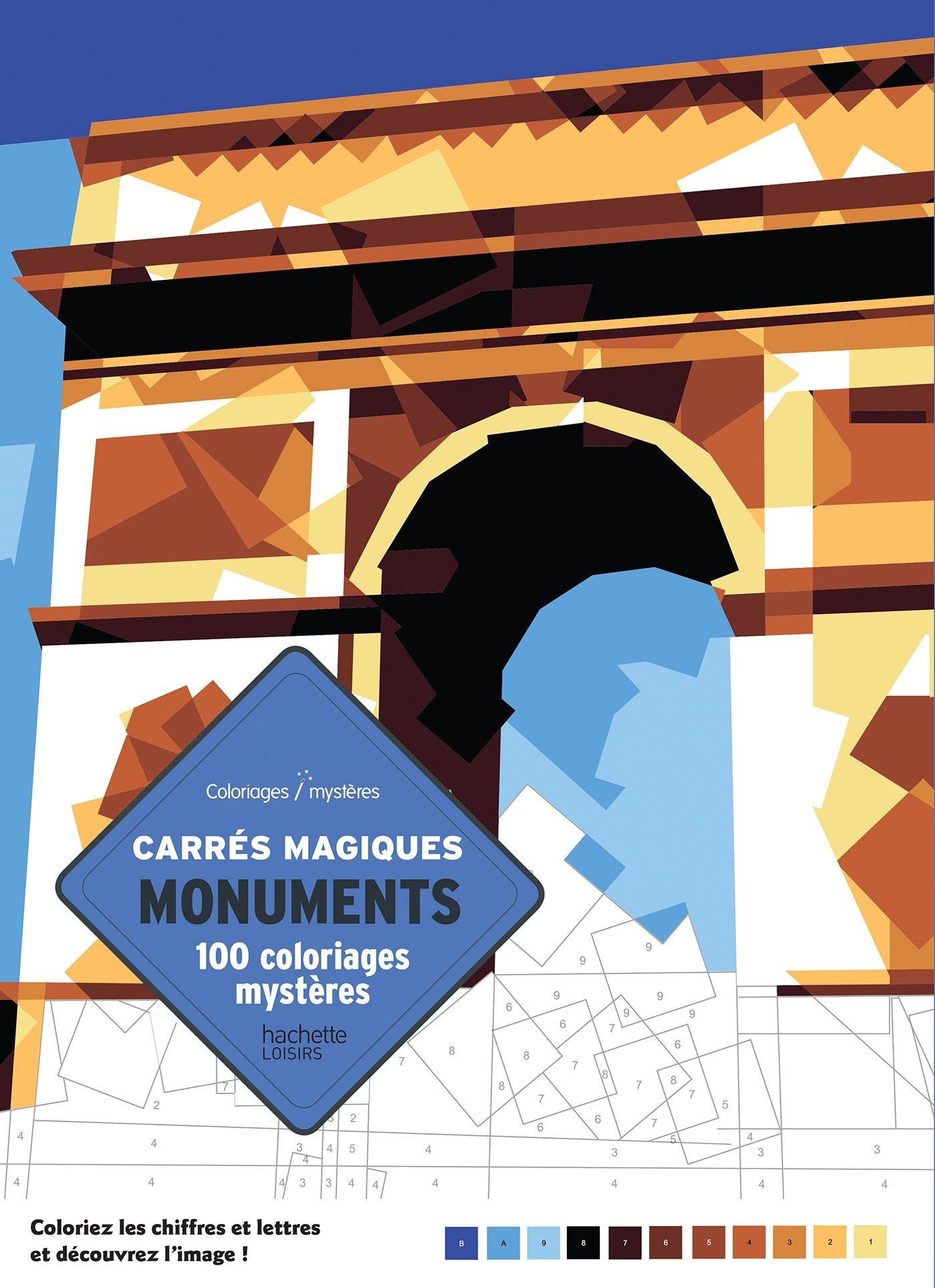 100 Coloriages Mystères En Carrés Magiques Monuments Du