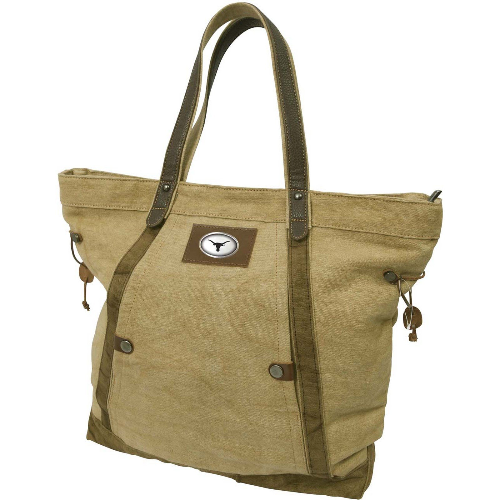 Canyon Outback 19-Inch Linen Tote Bag, Texas Longhorns
