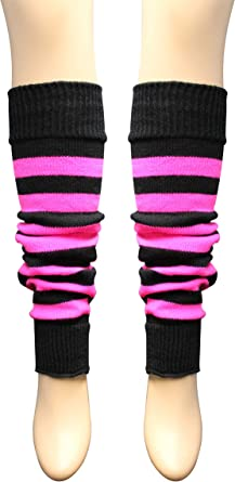 Pair of Girls Neon Leg Warmers age 4 to 12