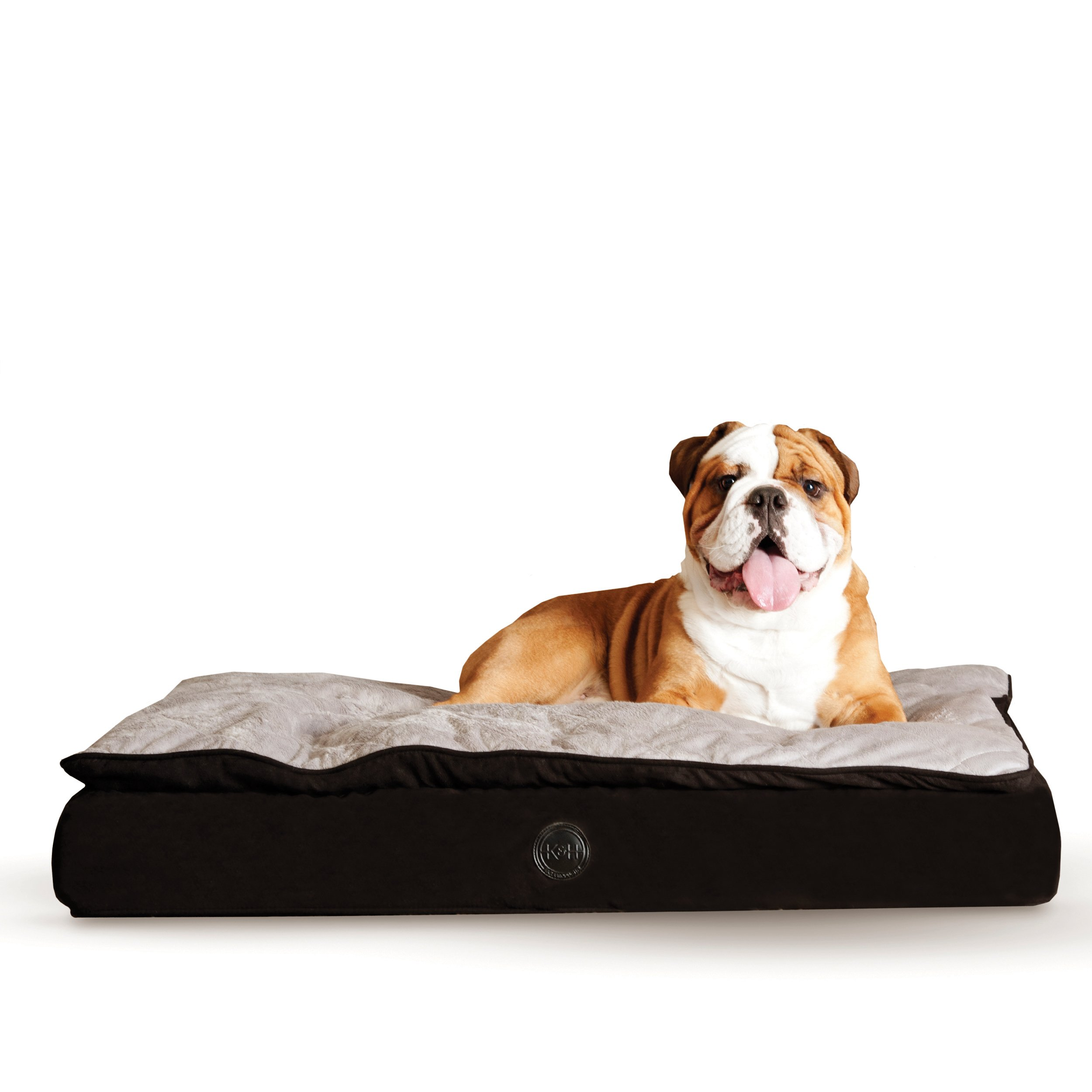 K&H Pet Products Feather-Top Ortho Pet Bed Large Charcoal/Gray 40'' x 50''