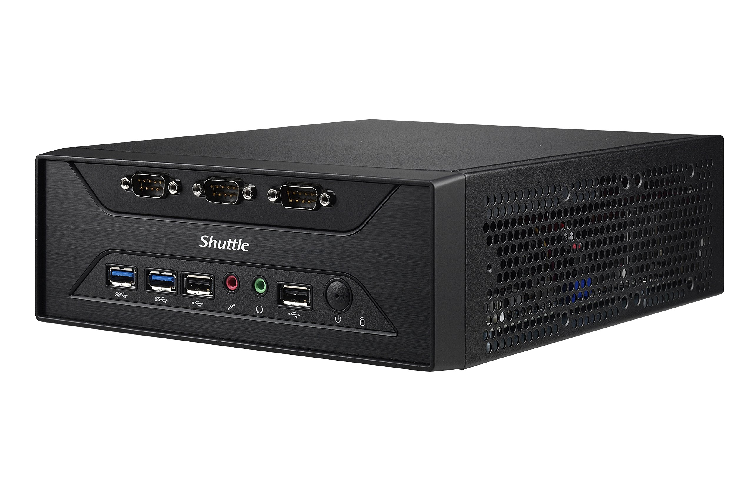 Shuttle XPC Slim XC60J Intel Celeron J3355, 8 x COM Ports, Support SODIMM DDR3L (Max. 16GB), Include Heatpipe Cooling Module by Shuttle (Image #2)