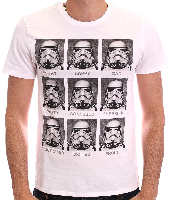 Star Wars Herren T-Shirt, mit Print weiß weiß M HSTTS1353