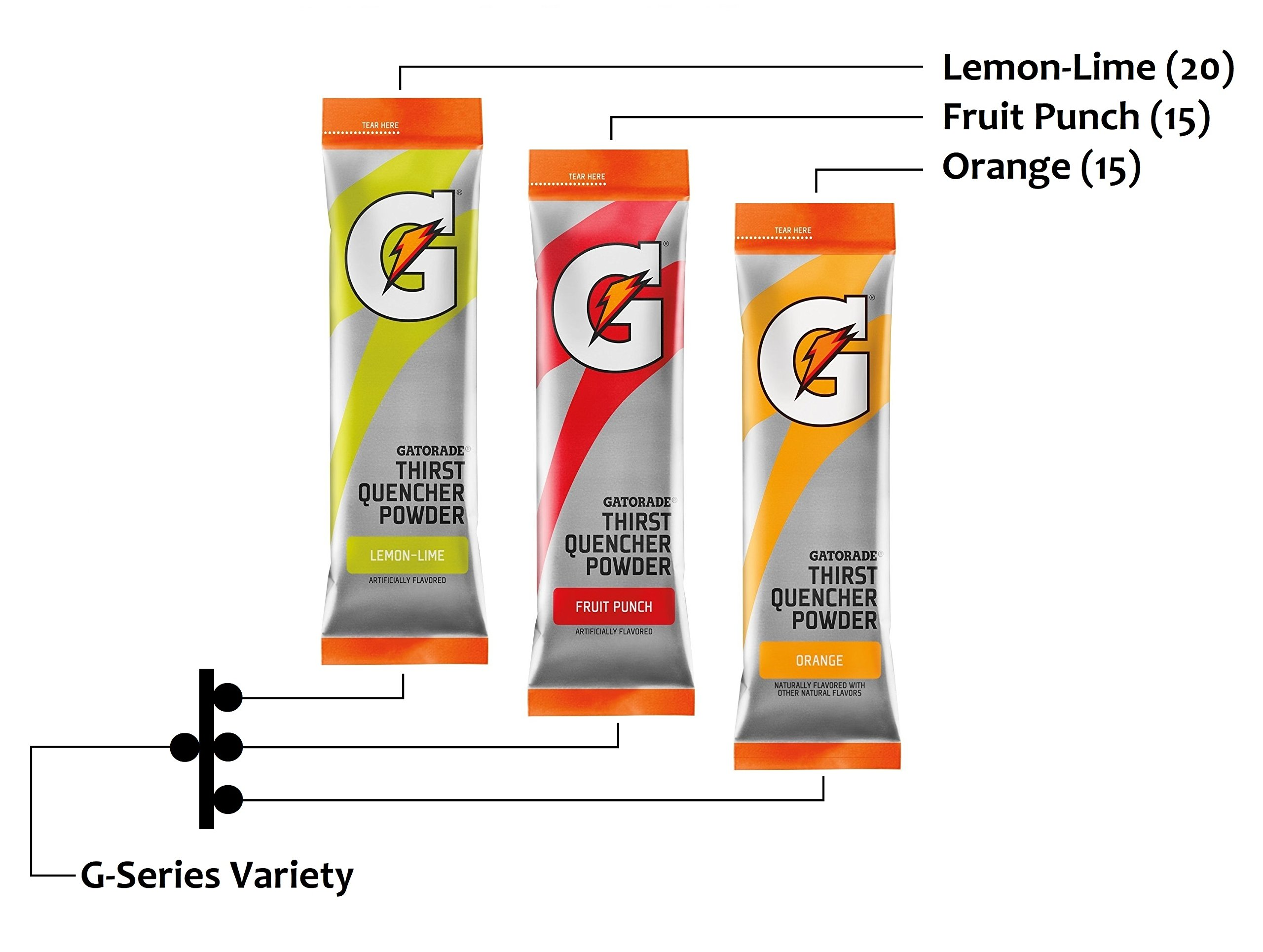 Gatorade Powder Variety, G-Series, 3 Flavors (50 Packets) with Hydration Safety Cooling Towel
