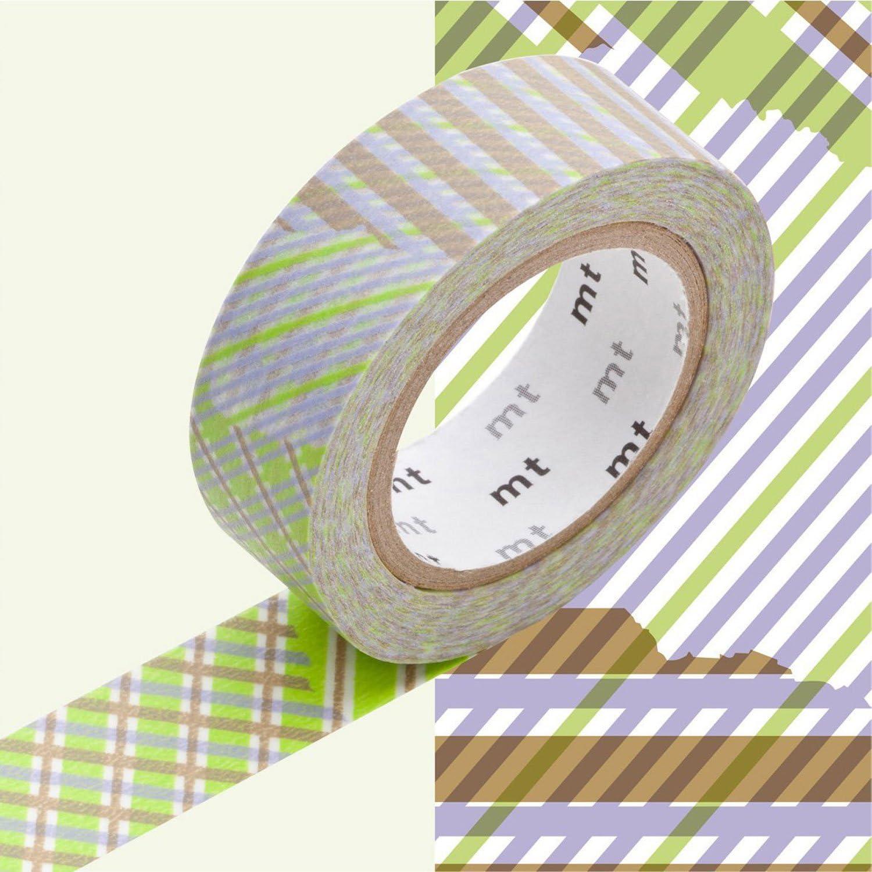 MT Kamoi Kakoshi KMMT-MKT1PD-DA Ruban de Masque Japonais Repositionnable Papier Adh/ésif /à Base de Fibres V/ég/étales Vert//Violet//Marron 1000 x 1,5 cm