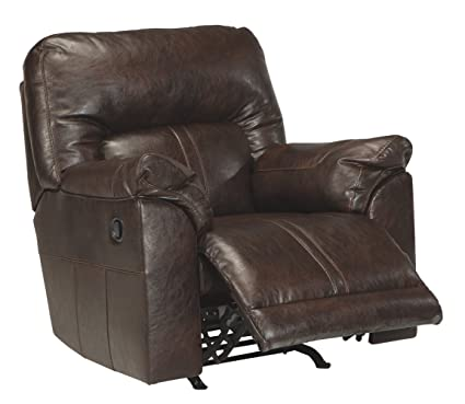 Signature Design By Ashley 4730125 Barrettsville Durablend Rocker Recliner,  Chocolate