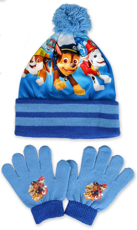 BOY'S PAW PATROL WINTER HAT & GLOVE SET, BLUE, GOOD QUALITY SIZE 3-7 YEARS