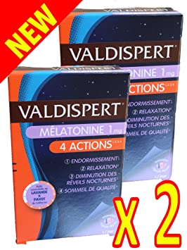 Valdispert – Complejo favorisant sistema endormissement – Melatonina 1 Mg – 4 Actions: endormissement #
