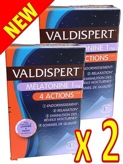 Valdispert - Valdispert melatonina 4 ACCIONES es un complemento alimenticio con melatonina, aceites esencial de