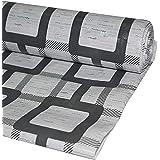 Kuber Industries Checkered PVC Wardrobe Kitchen Drawer Shelf Mat - Grey, 10M Roll (CTKTC05447)