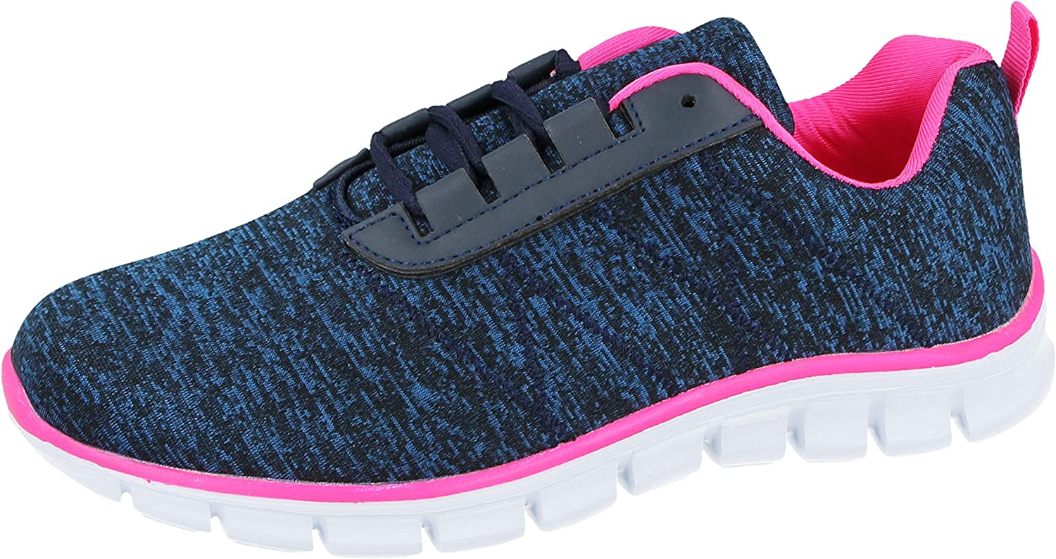 Ladies Womens Trainers Memory Foam Lace Up Lightweight Running Shoes Size