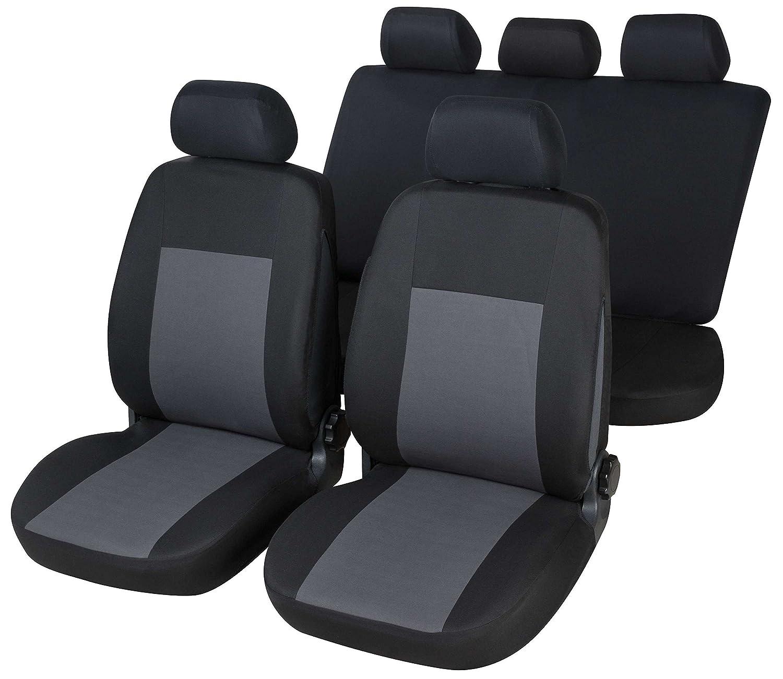RMG r16 V233 Housses pour 207 Housses voiture noirs gris compatibles avec siè ges doté s d'airbag braciolo et siè ges arriè res sé parables