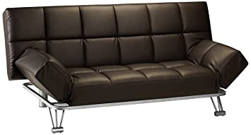 Julian Bowen Manhattan Faux Leather Sofa Bed, Brown Part 61