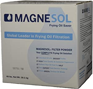 Magnesol Fryer Filter Powder by Dallas Group, Deep Fryer FryPowder, Save Fryer Oil, Extend Oil Life, Fry Oil Filtration, (1x40lb)