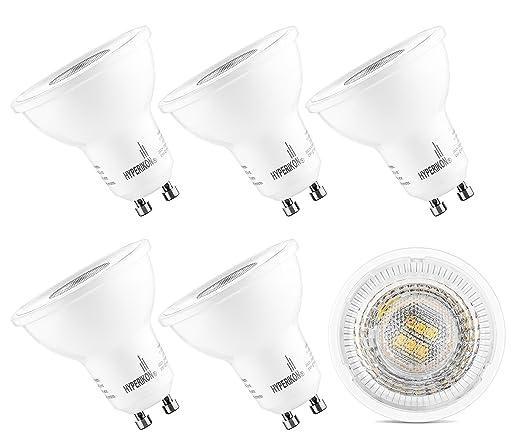 HyperSelect Bombillas LED GU10 - MR16 5W=50W Halógenas - Blanco Cálido (2700K)