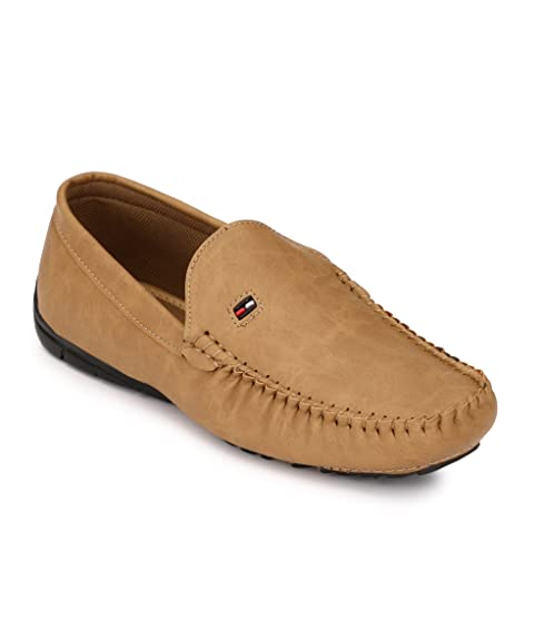 Shoe Smith Men's Tan Synthetic Loafers