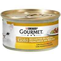 Purina - Gourmet Gold Bocaditos en Salsa Pollo e Higado - Pack de 24 x 85 g - Total 2040 g