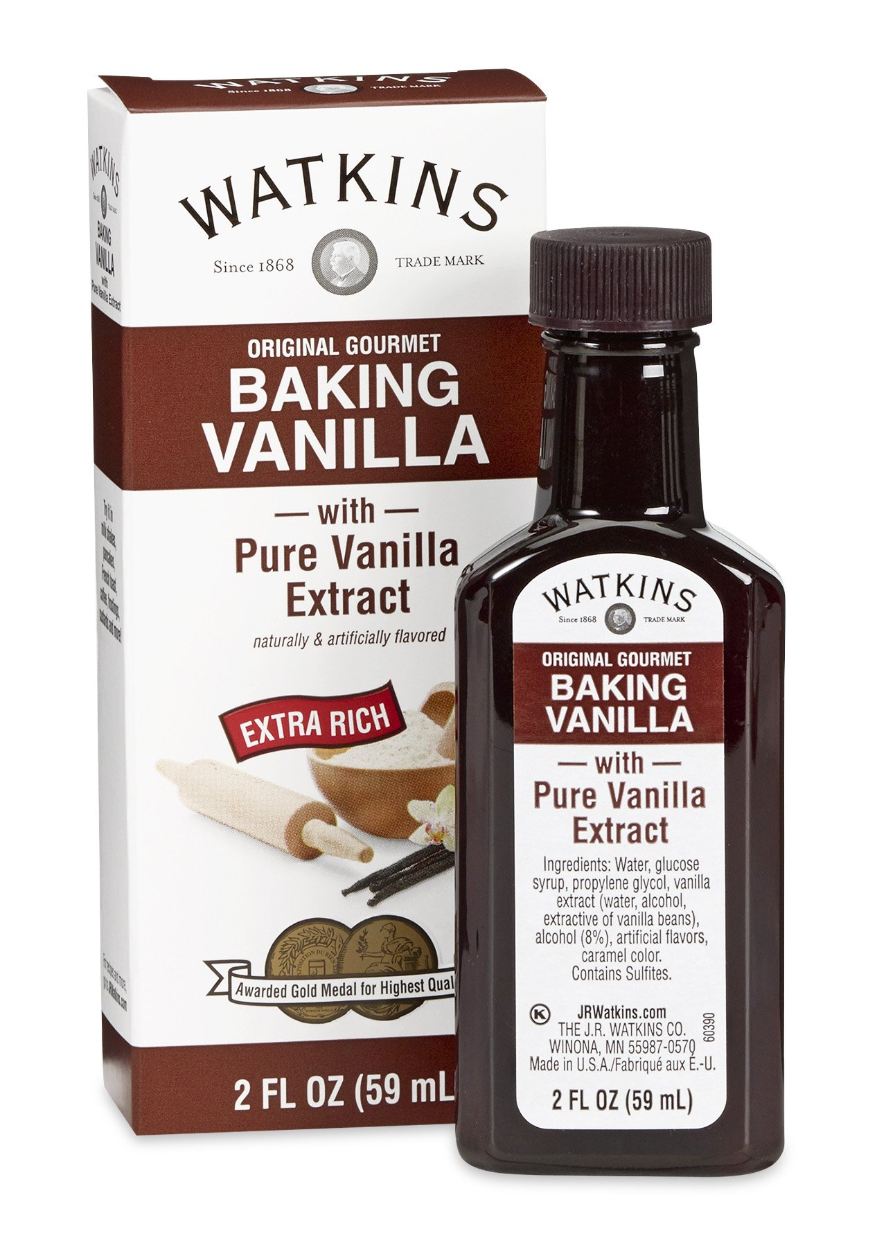 vanilla watkins extract baking natural packaging gourmet almond pure oz extracts ounce vary flavoring ingredients jet fl amazon scratch homemade