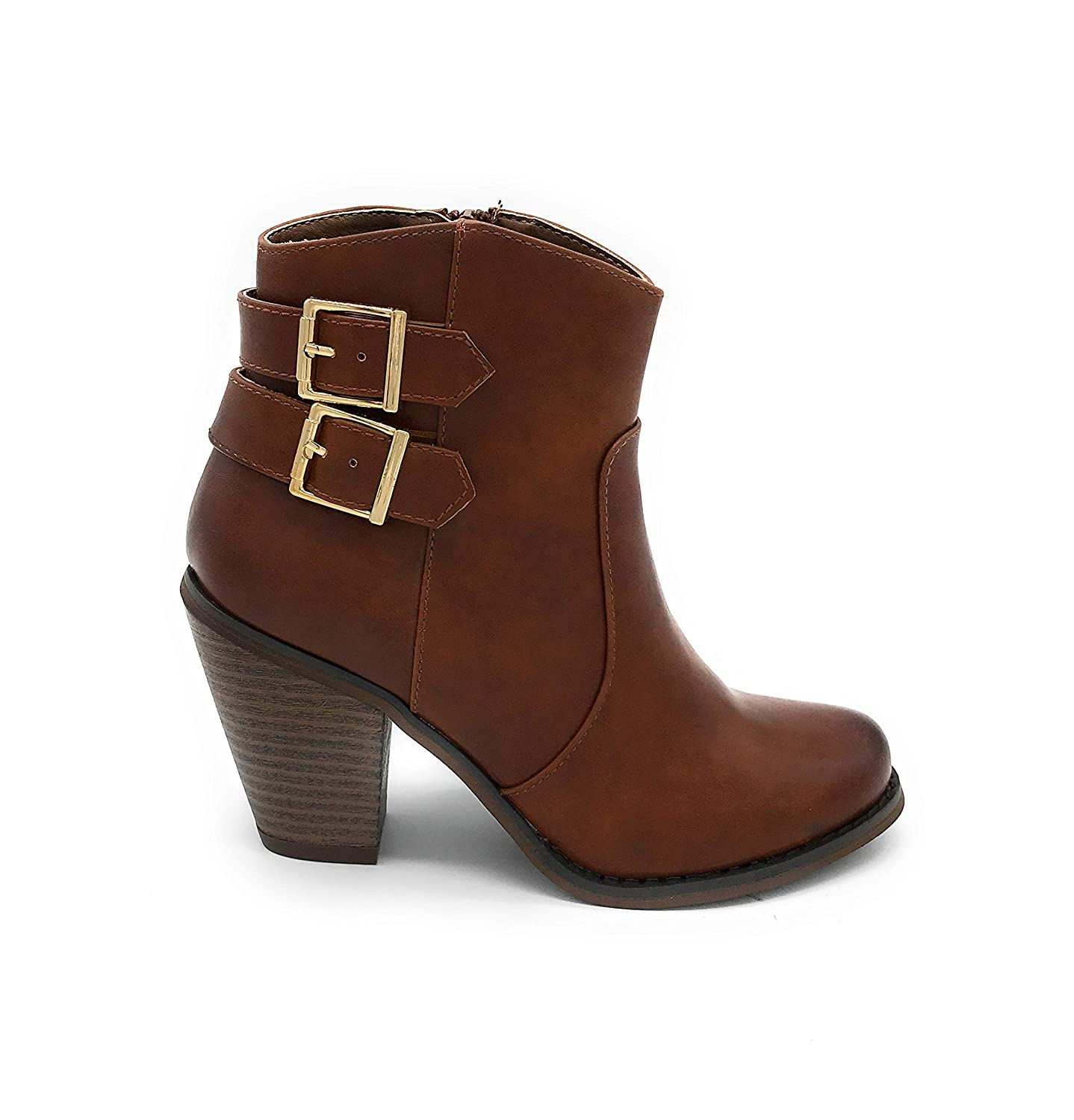 01tan bluee Berry EASY21 Women Fashion Ankle Boots Casual Short Bootie shoes