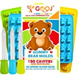 3 Pack 150 Pieces Premium Gooj Gummy Bears BPA Free Silicone Mold 3 Easy to Use Droppers with Included Recipe Perfect for Chocolate Candy Molds and Ice trays