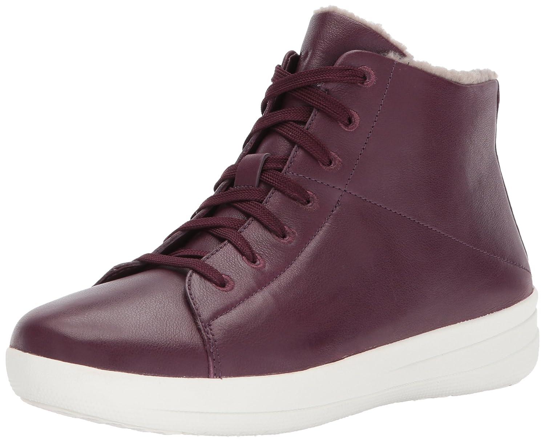 FitFlop Women's F-Sporty Sneakerboots in Leather Sneaker B06XG6MDHF 7.5 B(M) US|Deep Plum
