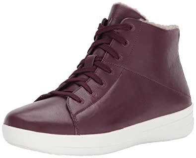 fb48574c8d55 FitFlop Women s F-Sporty SNEAKERBOOTS in Leather Sneaker deep Plum 6 ...