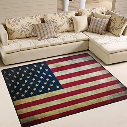 Superbe ALAZA Retro American Flag Independence Day July 4th Area Rug Rugs For Living  Room Bedroom 7
