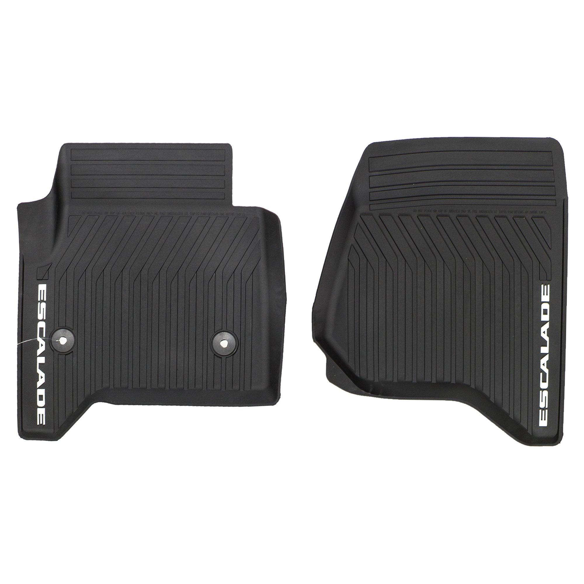 OEM NEW Front Rubber Floor Mats Black w/Escalade Logo 15-18 Cadillac 23452752