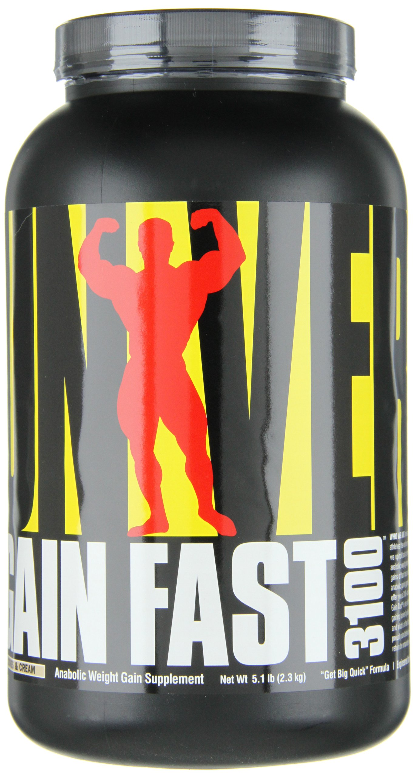 Universal Nutrition Gain Fast 3100, Cookies and Cream, 5.1-Pounds by Universal Nutrition (Image #9)