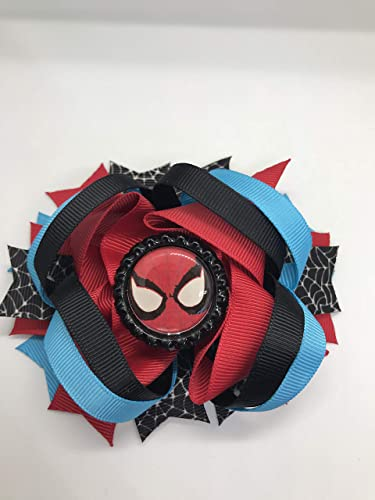 32384967abe5 Amazon.com: Spiderman Hair Bow, Little Girl Bows, Toddler Hair Bows,:  Handmade