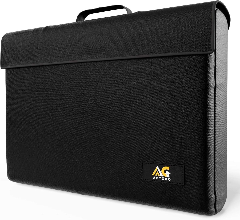 Large Fireproof, Waterproof Money & Important Document Holder Storage Bag | Fire Safe Document Box, APTGRO Fire-Resistant & Fireproof Document Bag | Safe Box Fireproof Waterproof