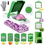 Veggie Spiralizer Slicer Cutter Grater, WOKOKO Onion Chopper Pro Mandoline Vegetable Chopper Dicers for Garlic, Cabbage, Carrot, Potato, Tomato, Fruit, Salad