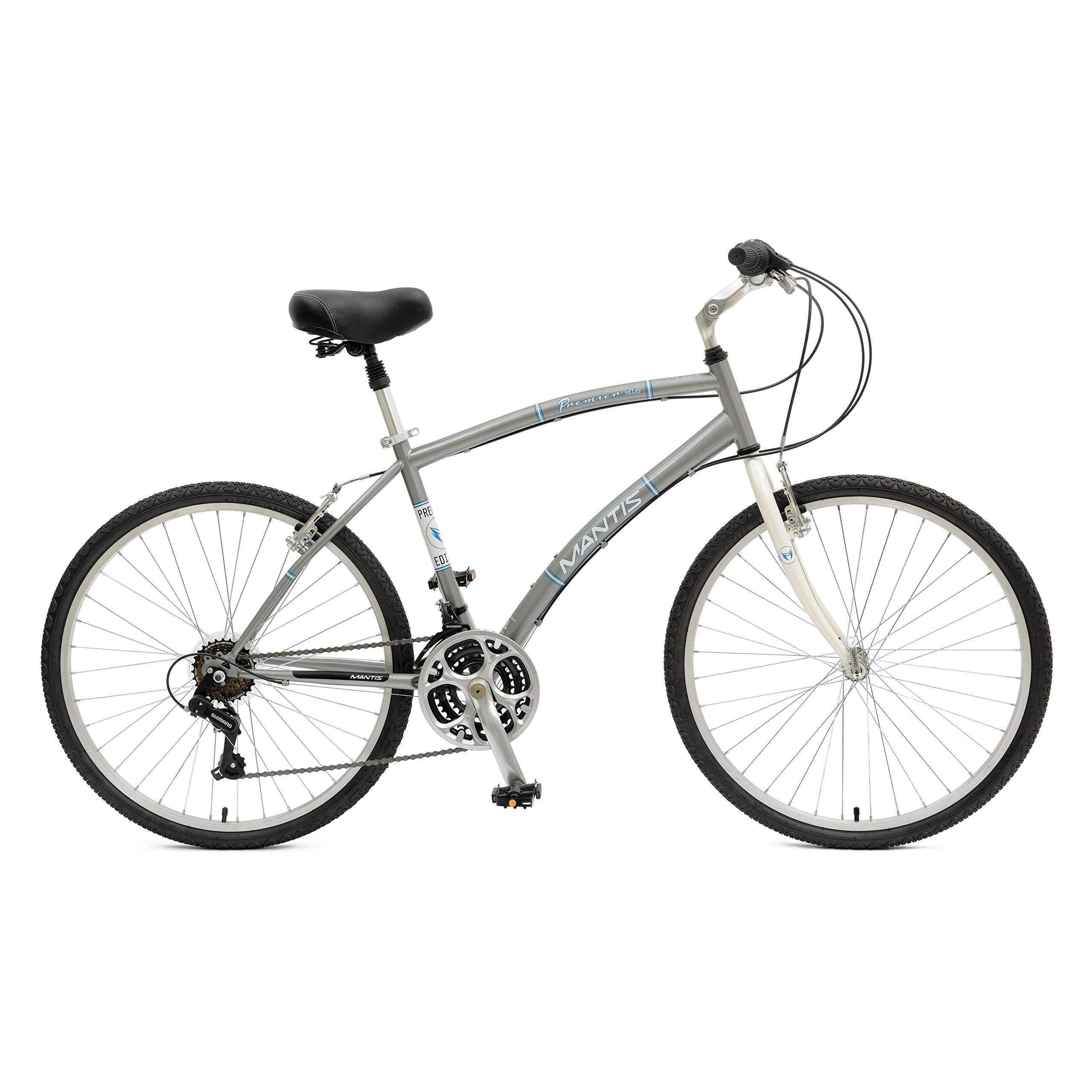Mantis Premier 726M Comfort Bike, 26 inch Wheels, 18 inch Frame, Men's Bike, Silver