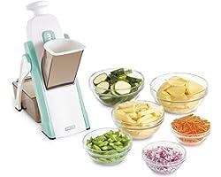Dash Safe Slice Mandoline Slicer, Julienne + Dicer for Vegetables, Meal Prep & More with 30+ Presets & Thickness Adjuster - A