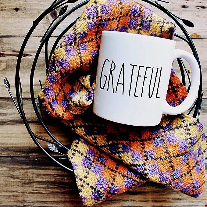 Amazon.com: Rae Dunn Inspired Grateful Mug, Thanksgiving mug, Fall Coffee Mug Gifts, Rae-dunn Inspired Mugs, Thanksgiving Coffee Cups, Grateful Cup: Kitchen & Dining