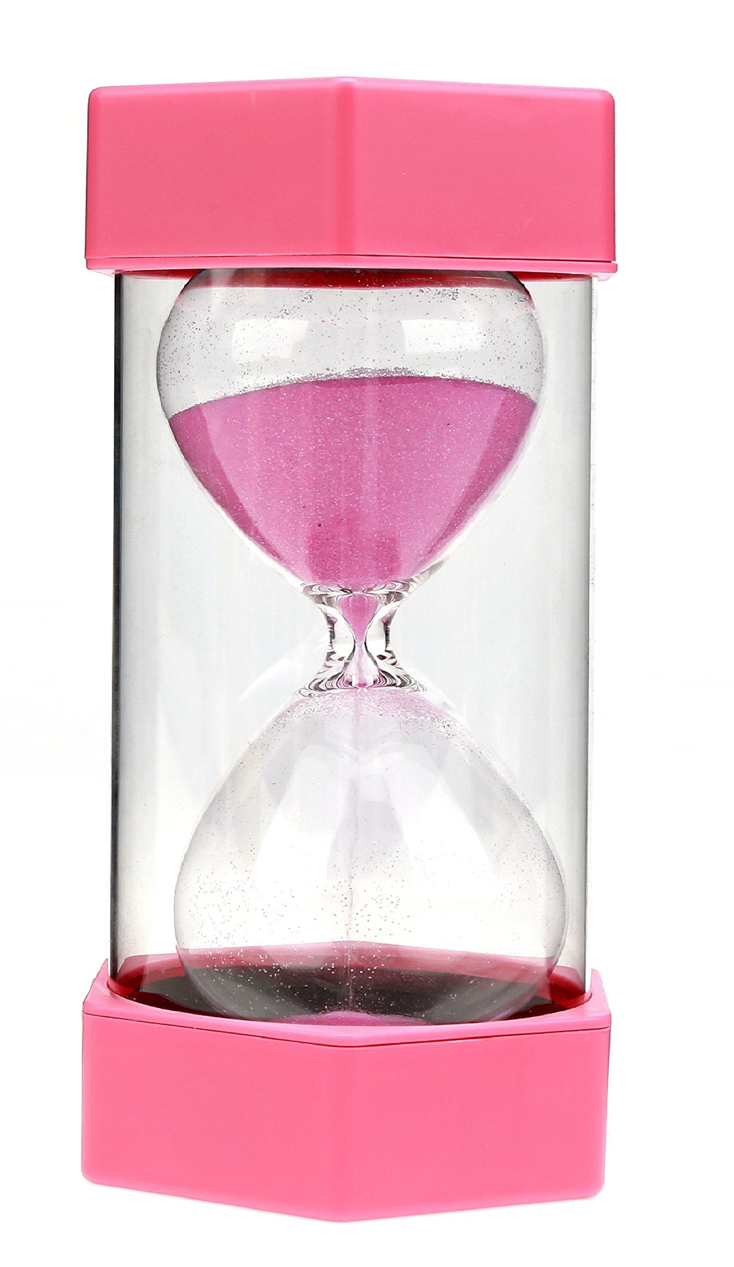 VEOLEY 10 Minute Sand Timer Security Fashion Hourglass for Kids, Classroom, Game,Kitchen,lunch-Pink by VEOLEY (Image #1)