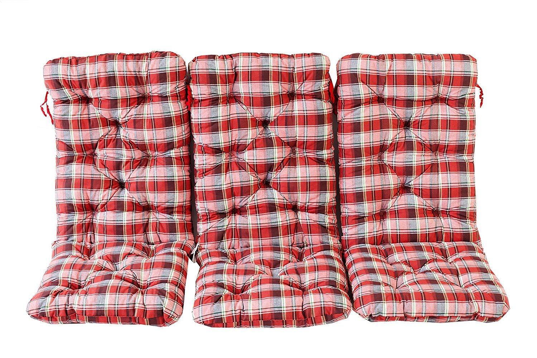 /Set di 3/Sdraio con Cuscino Ambientehome/ Cuscino Cuscino Hanko Maxi ca 120/x 50/x 8/cm Schienale ca 70/cm