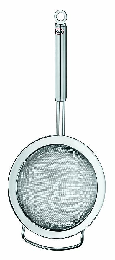 Rösle Stainless Steel Kitchen Strainer, Round Handle, Fine Mesh, 4.7-inch