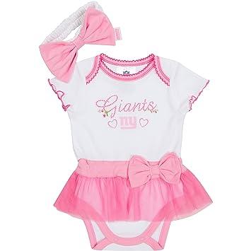 46e2b05d NFL New York Giants Baby-Girls Skirted Bodysuit & Headband Set, Pink, 3-6  Months