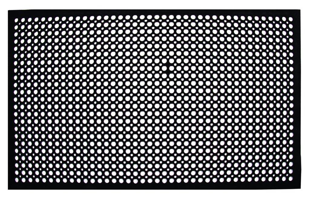 Update International FM-35B 3-Feet by 5-Feet Anti-Fatigue Service Floor Mat, Black