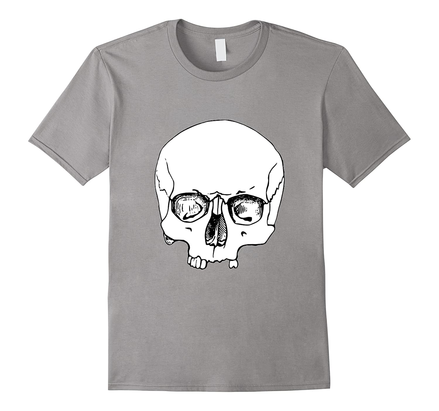 Big Huge Creepy Scary Frightening Skull Halloween t-shirt-FL