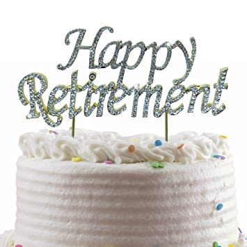 Amazon Com Jennygems Happy Retirement Cake Topper Sparkling