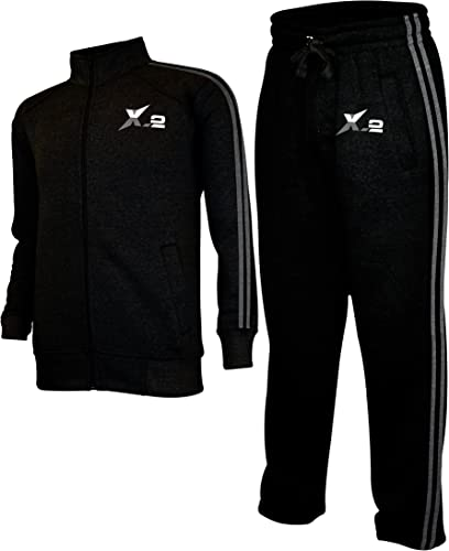 Duck and Cover Mens Full Tracksuits Tricot Jogging Bottoms Gym Sweat Suits Hooded Full Zip Sport Jacket Pant