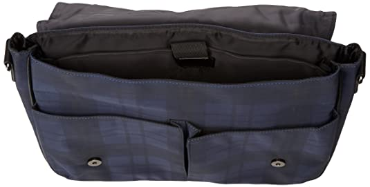 9042c1817739 Ted Baker Kresent Navy Check Messenger Bag Size  One Size  Amazon.co.uk   Luggage