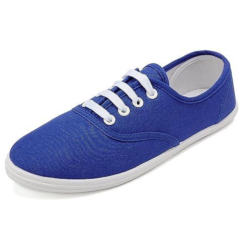 como serch producto caliente varios estilos Odema Zapatillas de Lona para Mujer, con Cordón, Tenis ...