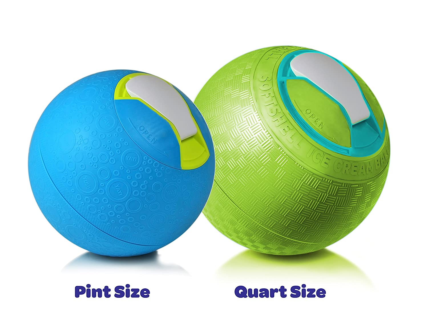 Amazon Yay Labs Softshell Ice Cream Ball Blue Pint Size
