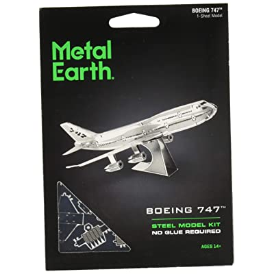 Fascinations Metal Earth Boeing 747 Airplane 3D Metal Model Kit: FASCINATIONS: Toys & Games