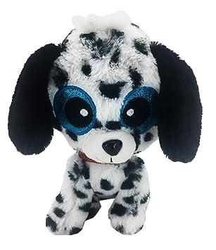 Animales Aitana - Peluche Perro Dalmata ojos de tela brillantes 23cm - Calidad super soft